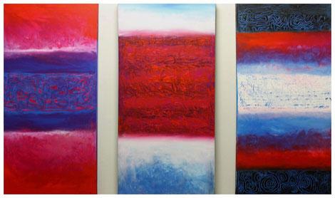 "Triptychon ""Evolution II"" 2011, 120x80"