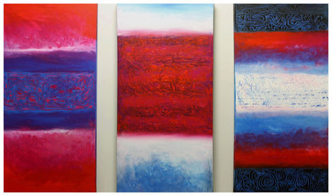 "Triptychon ""Evolution II"" 2011, 120x80"