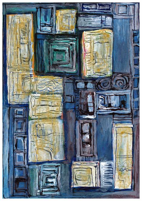 """Versunkener Palast"" 2010, TA 17x24"