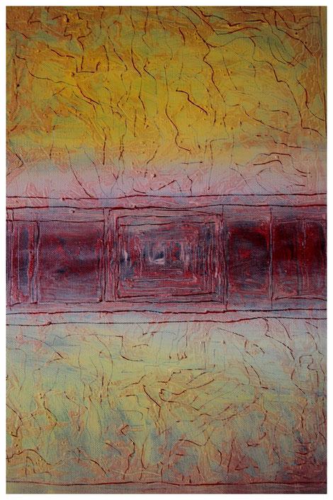 """""""Guanchen-Pueblo I"""" 2012, ET/LW 50x60"""