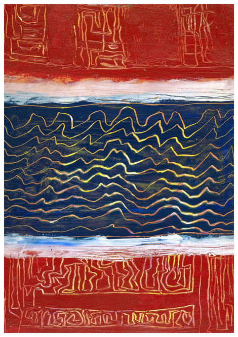 """""""Sonnenwellen"""" 2010, TA 24x32"""