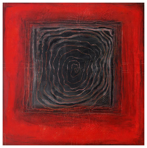 """Labyrinth"" 2011, ET/LW 60x60"