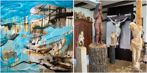 Regina Wuschek, Bergwelt, Ölmalerei, Großformatige Malerei, Murnau
