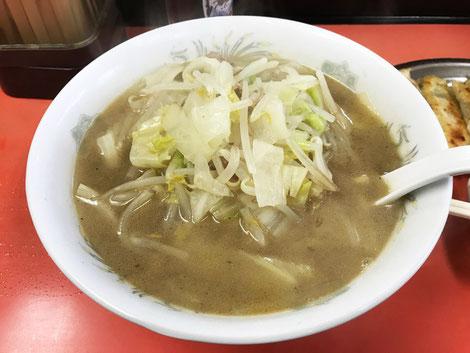 「一番」のタンメン。 野菜の旨味が溶け出したスープ。見えないがお肉も少し