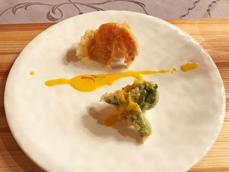 鮮魚と野菜のフリット。 とてもおいしいだけにもう少し量が... ほしい