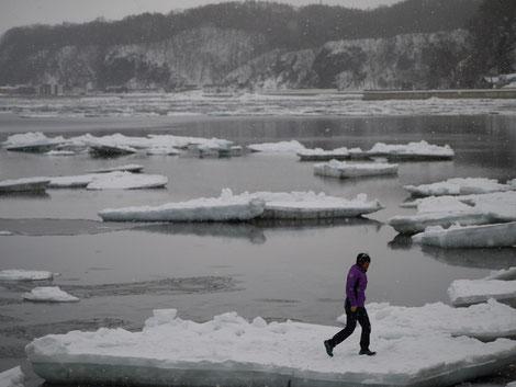 流氷の上で漂流ヽ(;´Д`)ノ