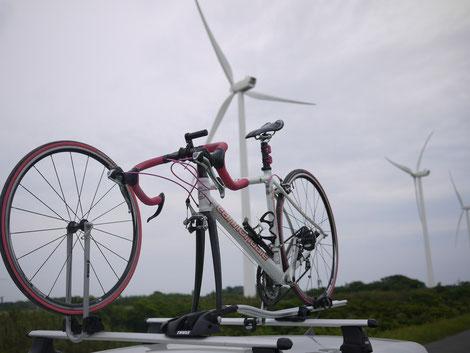 風力発電&MYチャリ