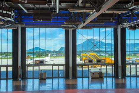 Fotos Flughafen copyright Salzburger Flughafen GmbH.