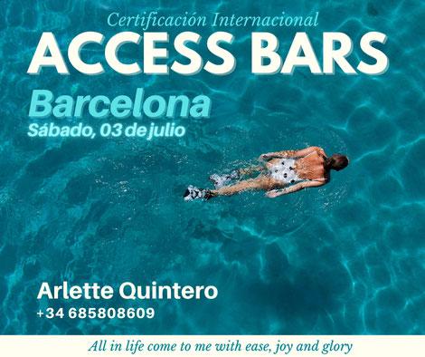 Clases de barras, curso de Barras,  Arlette Quintero, Arlette Quintero Terapias, Access Bars, Barras de Access, Access Consiousness, Access Barcelona, Access en español
