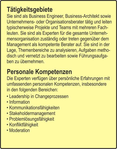 Der Organisator / Tätigkeitsgebiete / Personale Kompetenzen (Leadership in Changeprozessen / Information / Kommunikationsfähigkeiten / Stakeholdermanagement / Problemlösungsfähigkeit / Konfliktfähigkeit / Moderation)