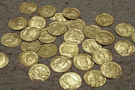 Les monnaies de Lienden. Crédit : Rob Reijnen