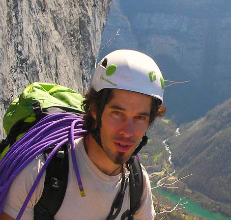 victor lefort moniteur d'escalade destination canyon