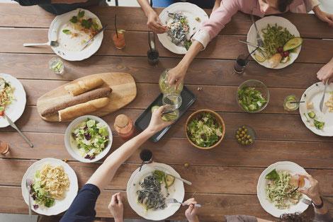 Minimalist Biohacker Social Meal Sharing Cooking at Home