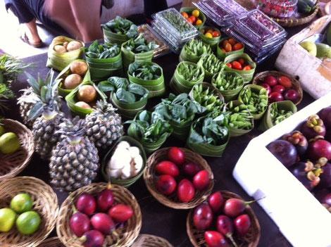 Organic market vegetables