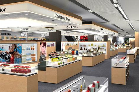 Shopdesign, Ausbau Globuswarenhaus, Umbau Innenarchitektur, Shopkonzept, Ladenbau Konzept, Renovation, Neubau, Kaufhaus, Kosmetik