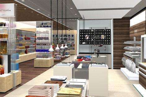 Shopkonzept, Airport Belfast, Visualisierung, Präsentation, Ladenbau