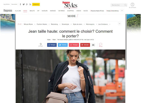 jean taille haute l'express styles