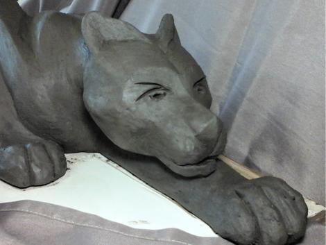 animal panthère céramique poterie hyères Var