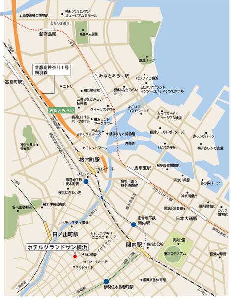 横浜 観光マップ ホテルグランドサン横浜
