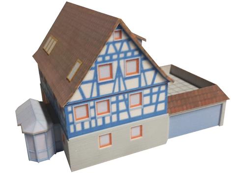 3D-Druck altes Fachwerkhaus
