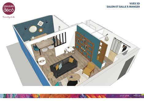 Décoratrice d'intérieur 92, Décoratrice d'intérieur Paris, Décoration d'intérieur, Conseil déco à domicile 92, Conseil déco, salle à manger, travaux, rénovation appartement, relooking appartement, projet déco, décoration, 3D, plans 3D, vues 3D