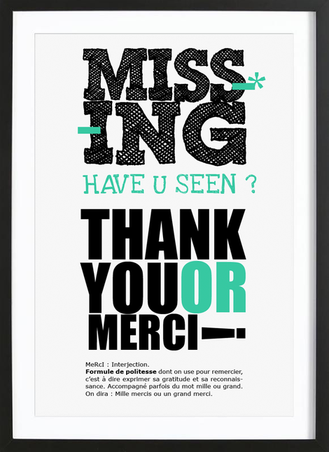 tableau graphique-missing-thank-you-merci