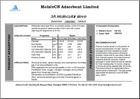 MolsivCN_Technical Data Sheet_Molecular Sieve 5A_TDS