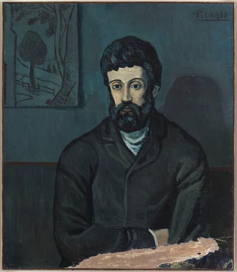 Picasso. Retrato de hombre, París Barcelona.Invierno 1902. Museo Nacional de Picaso en París.