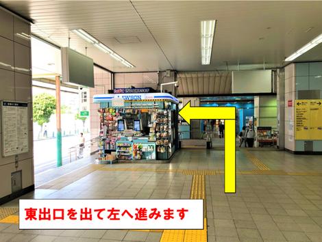 綾瀬駅の改札を出てからの道順
