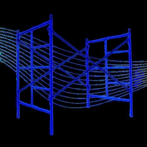 andamio tubular estándar para construcción 1.56 x 2.00 apertura 2.20