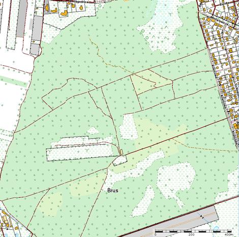 Mapa poligonu na Brusie