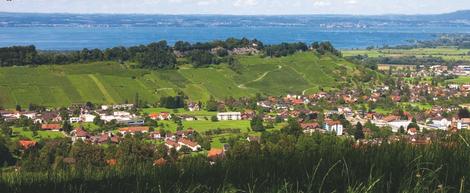 Thal SG mit dem Buechberg und Bodensee im Hintergrund by Ochsentorkel