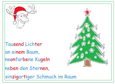 Akrostichon Grundschule, weihnachtliches Akrostichon, Gedichtformen Grundschule, Begriffe Weihnachten