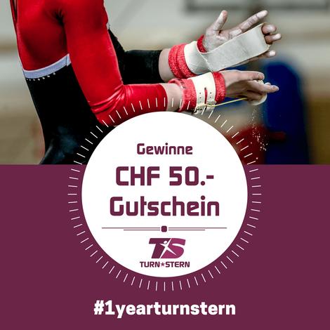 Ein Jahr TURNSTERN - Gewinne einen CHF 50.- Gutschein