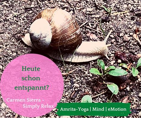 Entspannung Carmen Sierra Amrita-Yoga
