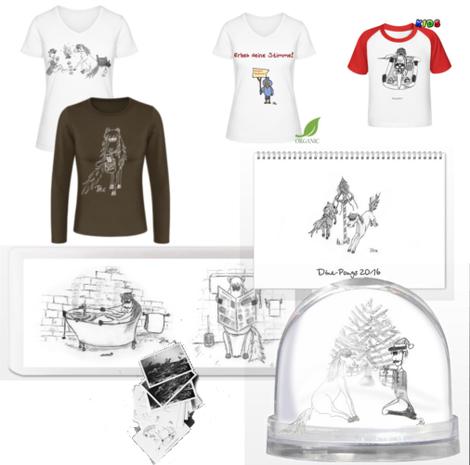 Dine-Pony und Dine-Shirts Geschenk und Sammelprodukte, Pferdeshirts