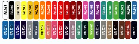 Farbfächer, Farben, RAL, 3D Buchstaben, Acrylox, Acryl, Buchstaben, Werbung, Werbetechnik, Beschriftung, Fräsbuchstaben, Reliefbuchstaben,