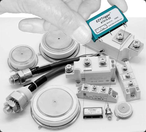 Kompaktes aktives Trigger Modul zur direkten Ansteuerung der gängigsten Thyristortypen über Mikrocontroller, Mikroprozessoren, CPLDs oder FPGAs