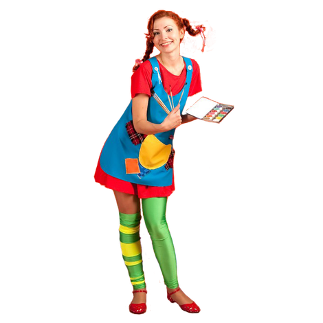 Аниматор Пеппи Длинный Чулок на детский праздник и день рождения