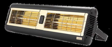 TANSUN Infrarot Wärmestrahler MONACO 2 x 1,5 kW mit Goldröhre zur reduzierten Lichtabgabe