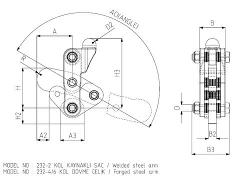 KUKAMET Vertikalspanner Modular mit beweglichem Fuß