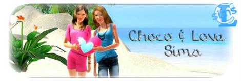 Bannière Choco&Lova Sims