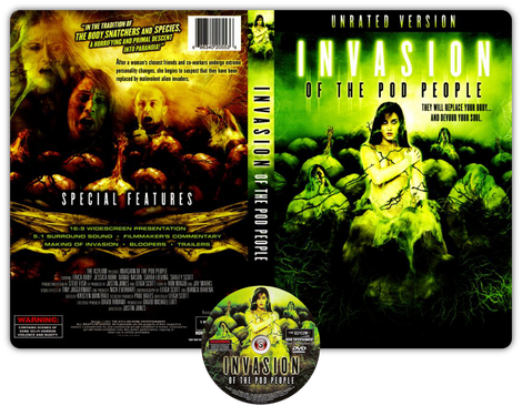 Invasion of the Pod People - Copertina DVD + CD