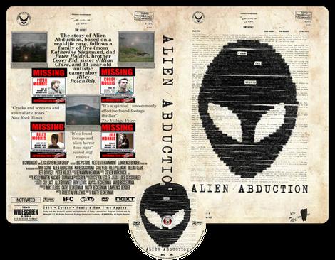 Alien abduction - Copertina DVD + CD