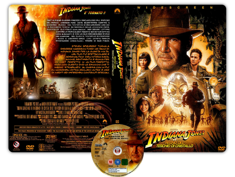 Indiana Jones e il regno del teschio di cristallo - Indiana Jones and the Kingdom of the Crystal Skull - Copertina DVD + CD