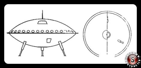 Il mezzo volante extraterrestre disegnato da Schirmer
