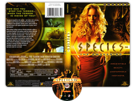 Species 4  - Copertina DVD + CD