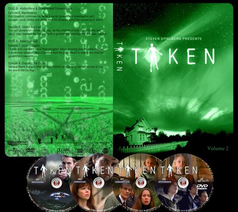 Taken Copertina DVD ep. 5 6 7 8