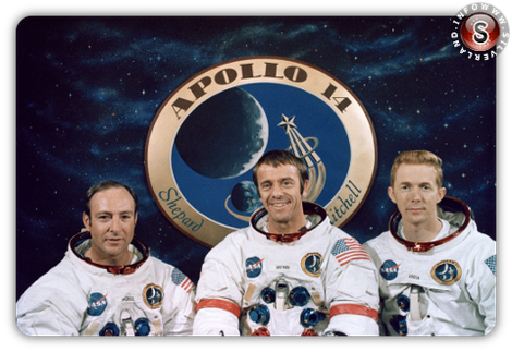 Apollo 14 Edgar Dean Mitchell - Alan Shepard - Stuart Roosa
