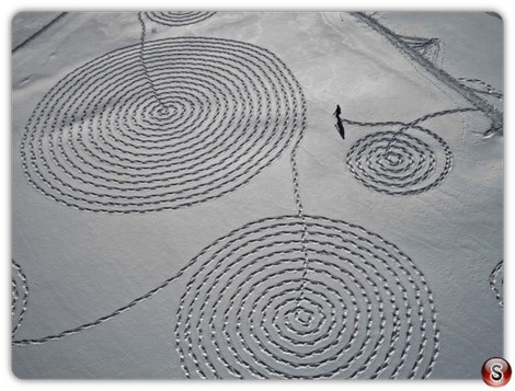 Giant Snow Drawing Art - by Sonja Hinrichsen